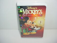 Mickey's Once Upon A Christmas Walt Disney VHS Video Tape Movie Clamshell