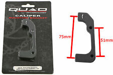QUAD DISC BRAKE CALIPER MOUNT 51mm / 75mm FOR 203mm DOWNHILL DISC – 50% QAB05