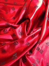 """Rojo Con Negro palabras 45 """"Chino brocado tejido-Por Metro. m53-1 mtex"""