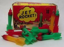 SET OF THREE DIFFERENT COLORS VINTAGE BARTON TOYS SPACE JET ROCKET CAP BOMBS!!!