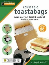 2 X TOASTABAGS® REUSABLE TOASTER TOAST TOASTED SANDWICH BAGS