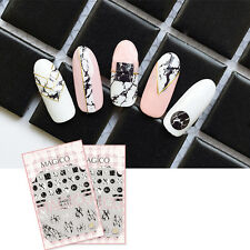 3D Nail Art Sticker Adhesive Manicure Tips Ultra-thin Decal Marble Design DIY