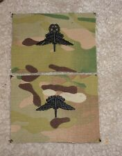U.S. ARMY MILITARY FREE FALL PARACHUTIST BADGE,HALO,CLOTH ON MULTICAM, SET OF 2