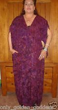 purple dress caftan OS L XL 1X 2X 3X 4X ruching asym ties zz811