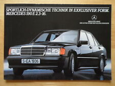 Mercedes 190e 2.3-16 Raro Brillante prospecto Folleto 1983 - 190 E