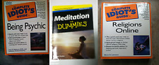 Lot of 3 Idiots Dummies Guide  Books Psychic Powers Religions Online Meditation