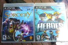 Sorcery And Playstation Heroes- Playstation 3 -Two NEW Move Games!
