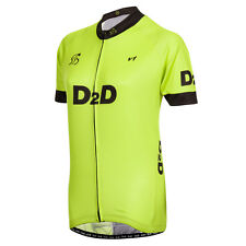 D2D Ladies Short Sleeve Cycling Jersey v1: Black and Red, Blue, White or Fluoro