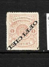 LUXEMBOURG    1875   1c  BROWN OFFICIAL  MLH INVT OVPT  Sc O1a