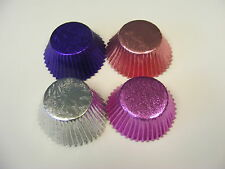 40 x Pink, Purple, SIlver, Pink/Lilac Mixed Foil Muffin/Cup cake cases