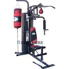 MULTI FUNCTION FITNESS EQUIPMENT HOME GYM BOXING 50KG WEIGHTS PUNCHING CEILING