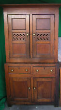 century oak and bread cheese cupboard 18th