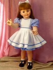 "Patti Playpal Dress and Pinafore Set To Fit 35/36"" Doll So Sweet!"