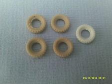 DINKY x4 15mm PNEUMATICI di ricambio bianco ingiallito liscio