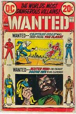 WANTED: THE WORLD'S MOST DANGEROUS VILLAINS #8 FR/GD The Flash Captain Cold