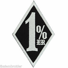 1%ER One Percenter Slogan Funny Biker Outlaw Motorcycles Iron-On Patches #B025