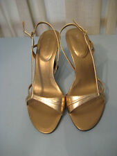 Nine West Gold Leather Accolia  Strappy Sandals Size 7M