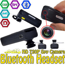 Bluetooth Headset Earphone HD 720P Spy Camera Mini DVR DV Video Audio Recorder U