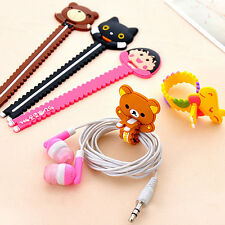 10pcs Cute Animal Earphone Computer Cables Wrap Winder Wire Holder Organizer