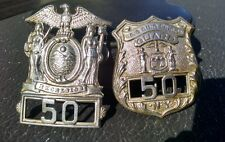 Original Rare Obsolete 1900's SING SING State Prison Guard Badge Set NOT A REPRO