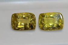 QUARTZ LEMON GOLDEN FANCY CUT PAIR 41CTS PLUS COLLECTORS ITEM