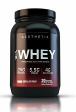 AESTHETIX 100% Whey Protein Chocolate For lean Muscle | 9.5 of BCAA & Glutamine