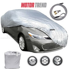 """Motor Trend All Season Complete Waterproof Car Cover Fits up to 228"""" W/ Lock"""