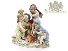 Grande Meissen personaggio figure gruppo 4 Putten sul fuoco