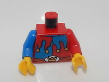 Lego Torso Castle Fantasy Era Red and Blue Jester's Collar, Crown on Buckle #42