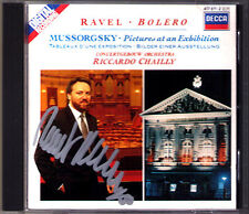 Riccardo CHAILLY Signiert MUSSORGSKY Pictures at an Exhibition RAVEL Borelo CD