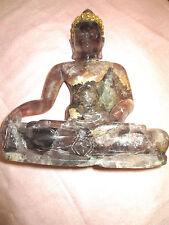 THAI QUARTZ  SITTING  BUDDHA ,OF RATANAKOSINDRA PERIOD 1800-1900 A.D