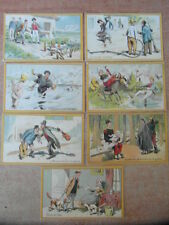 7 x CHROMO TRADE CARD CHICOREE VOELCKER COUMES BAYON Locutions celebres v.1894