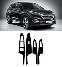 Window Switch Panel Carbon Decal Sticker Heating type 4p For 2016 Hyundai Tucson
