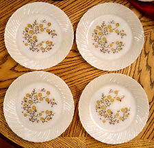 Mid Century VTG Termocrisa White Milk Glass Dinner Plates Floral Pattern Mexico