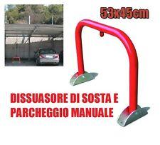 DISSUASORE DI SOSTA PARCHEGGIO AUTO PARKING STOP MANUALE 53x45h PALO RIBALTABILE