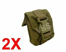 2x Frag Grenade Pouches Molle Coyote Eagle USMC Tactical Military Cell 177900