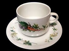 "Villeroy & Boch SEPTFONTAINES ""PRIMABELLA"" Vegetables Fruits CUP & SAUCER ~RARE!"