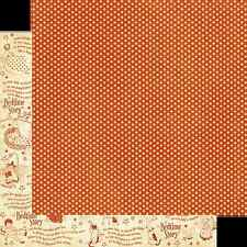 Graphic45 SPOT ON 12x12 Dbl-Sided Scrapbooking (2pc) Papers VINTAGE