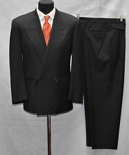 100% Authentic Vintage 90s GIANNI VERSACE Couture Wool Suit Sz It 46 R, US 36