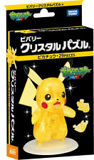 Pikachu Pocket Monster 29 piece Crystal Gallery ❤ 3D Puzzle Japan
