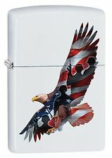 Zippo Windproof Lighter With Eagle, U.S. Flag and Military, 29418, New In Box