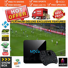 2017 MXQ Quad Core 4K Android 6.0 TV Box KODI Fully Loaded Kodi Sports Movies