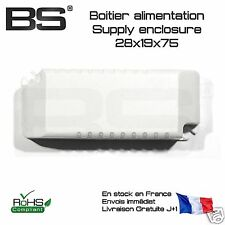 Boitier plastique alimentation supply 28x19x75 Arduino Pi FR Pro Exped j+0 10054