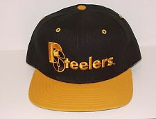 Vintage 90's Pittsburgh STEELERS NEW ERA Snapback HAT PRO MODEL NEW Old Stock