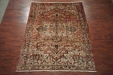 Persian Antique 8X11 Heriz Serapi Hand-Knotted w/ Abrash Area Rug (8.2 x 10.7)