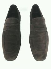 ERMENEGILDO ZEGNA Brown Suede Penny Loafer Mens Shoes US 11 M UK 10.5 EUR 44