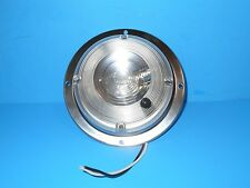 *RV 12 VOLT ROUND VANITY LIGHT BRUSH NICKLE WITH SWITCH LITECO MODEL 820161