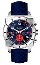 LUXURY DESIGNER CHRONOGRAPH WATCH TIMOR FROM THE HOME CAVADINI AZURE BLUE MODEL