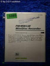 Sony Bedienungsanleitung MDX C800REC Mini Disc Recorder (#3385)
