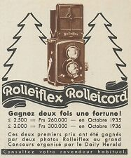 Z9313 Rolleiflex - Rolleicord -  Pubblicità d'epoca - 1936 Old advertising